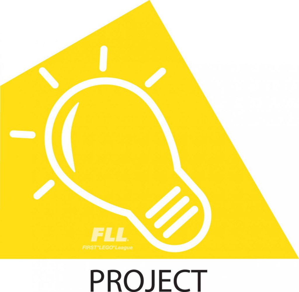 FLL Yellow Project triangle piece