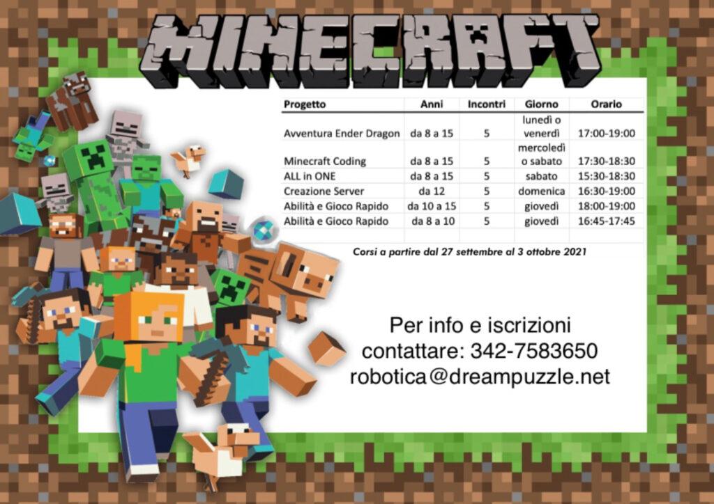 minecraft calendario 2021